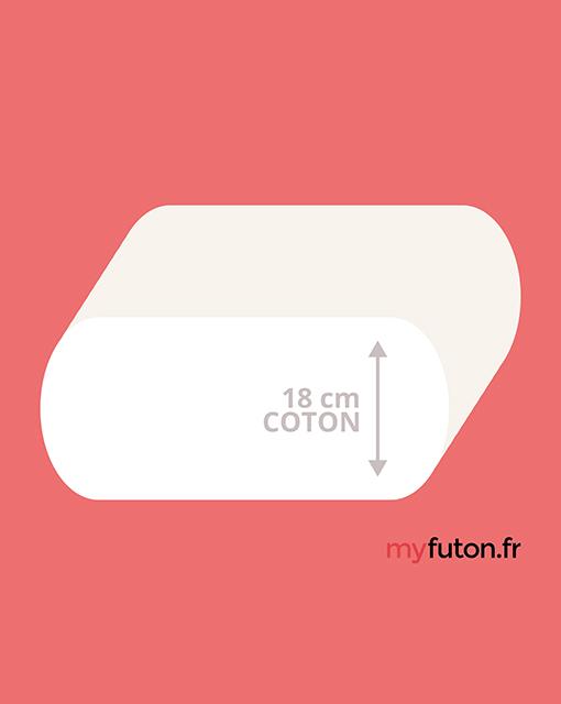 coupe futon coton dento