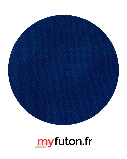 housse de futon bleue