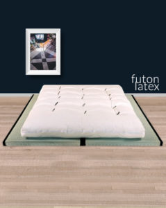ensemble futon coton latex et 2 tatamis